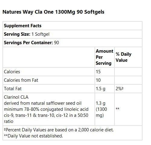 033674153413 - Nature's Way Cla-1300 1,300 mg 90 Sgels carousel main 1