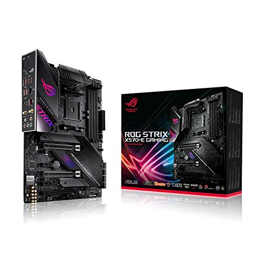 ASUS ROG Strix X570-E Gaming – Placa Base Gaming AMD AM4 X570 ATX con PCIe 4.0, Aura Sync RGB led, 2.5 Gbps y Intel…