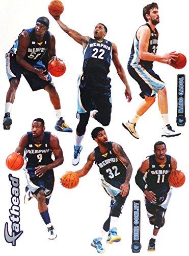 FATHEAD Memphis Grizzlies Team Set Official NBA Vinyl Wall Graphics 17
