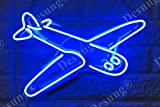 Desung Brand New 14'' Plane Airplane Gift Lamp Decorated Acrylic Panel Handmade Custom Design Neon Sign Light WD34