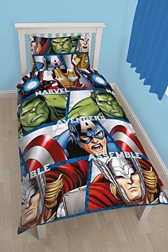 Officiel Les Vengeurs Iron Man, Hulk, Thor, Captain America Simple Ensemble Housse De Couette