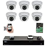 Cheap GW Security 8CH 4K NVR 5MP IP Camera Network PoE Surveillance System – (6) HD 1920P Weatherproof Outdoor/Indoor Dome Security Cameras