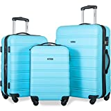 Merax Travelhouse Luggage 3 Piece Expandable Spinner Set (SkyBlue_1)