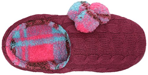 Cuddl Duds Mujeres Pom Perfect Flat Berry