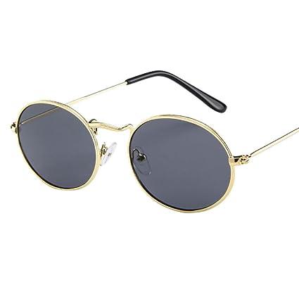 Sunday Vintage Gafas de Sol Retro Oval Metal Gafas Frame de Moda Para Hombres y Mujeres