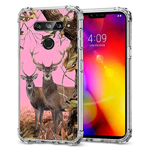 Bunny Camo (LG V40 ThinQ Camo Case, LG V40 Camo Case, BAYKE Slim Flexible TPU Bumper Cushion Protective Cover with Reinforced Corners for LG V40 Case, LG V40 ThinQ Case)