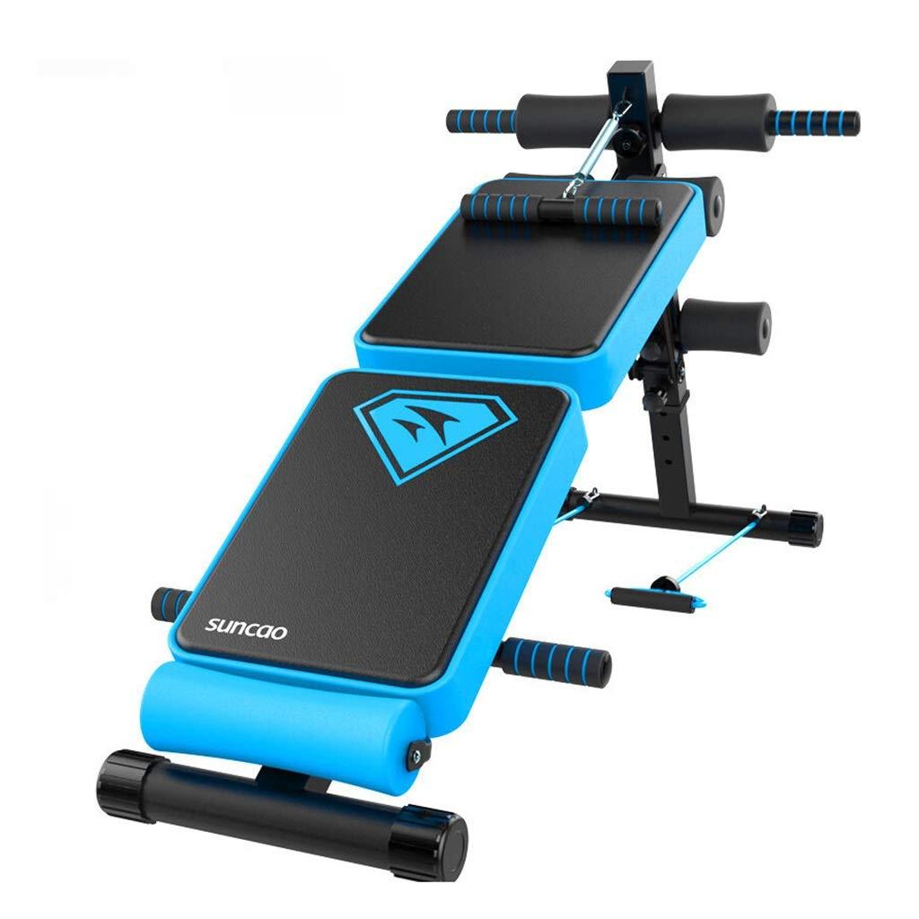 腹筋器具 シットアップ腹部ボードダンベルベンチ腹部多機能家庭用フィットネス機器 (Color : Blue, Size : 144*32*62cm) 144*32*62cm Blue B07KD7PCYL