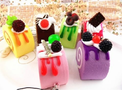 squishy-phone-straps-soft-fruit-sprinkles-chocolate-cake-squishies-charms