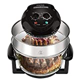 ZMSD Oil-less Air Fryer,18Quart,Infrared Convection Halogen Oven Countertop,Bake, Grill, Steam Broil, Roast & Air-Fry, Includes Glass Bowl,Tong,Broil Rack,Pan and Toasting Rack,18 Quart 1400W,120V