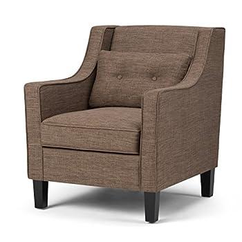 Simpli Home Ashland Club Chair, Fawn Brown
