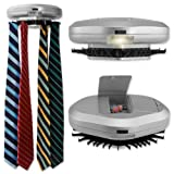 Electronic Wall Mounted silver plastic Tie Rack