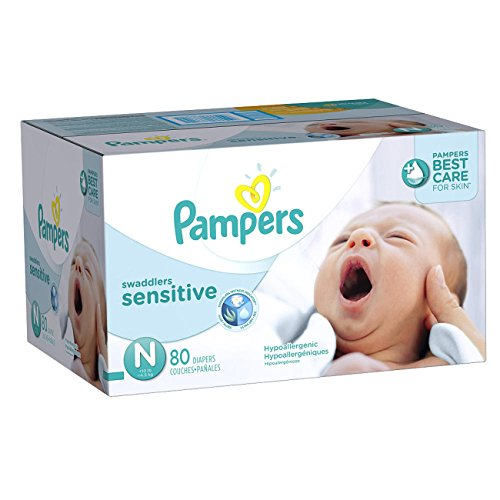 Pampers Swaddlers Newborn Sensitive Diapers Super Pack - ...