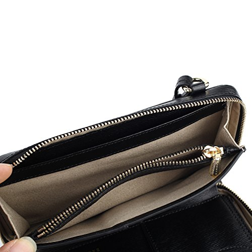 Crossbody Organizer Banuce Purse Small Black Satchel Women Genuine Shoulder Clutch for Leather Wallet tXqXA