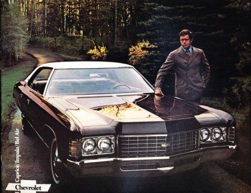 (1971 Chevrolet Chevy Impala Bel Air Caprice Original Dealer Sales Brochure)