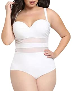 2c6244ca84 Sorrica Trendy Women s Summer Strappy One Piece Swimsuits Plus Size ...