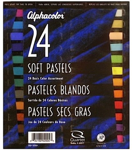 Alphacolor Soft Pastel Sets (Basic Assorted Colors) - Set Of 24 - Product Description - Alphacolor Soft Pastel Sets- Color: Basic Assorted Colors- Description: Set Of 24Vibrant, Non-Toxic. Highly Pigmented Strong Colors Make Bright Pictures, Pos ...