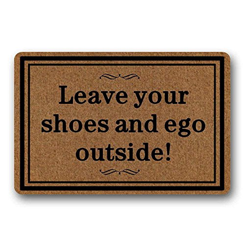 Doormats Leave Your Shoes And Ego Outside Rubber Non Slip Doormat Entrance  Rug Floor Mat