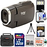 Vivitar DVR949HD 1080p HD Video Camera Camcorder (Black) with 32GB Card + Case + Tripod + LED Video Light + Kit