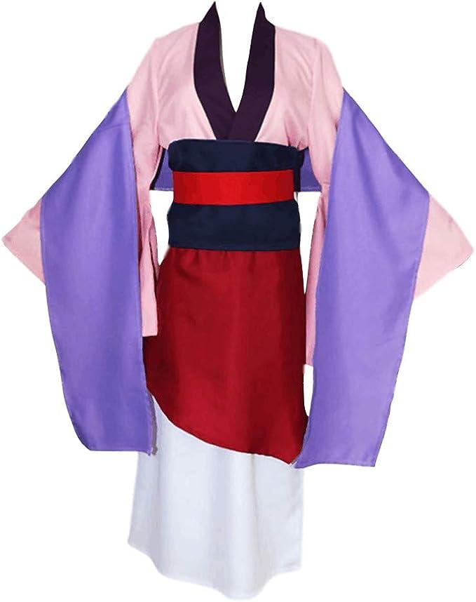 Hanfu Vintage Antiguo disfraz chino para mujer, cosplay Mulan ...