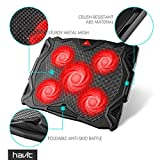 HAVIT 5 Fans Laptop Cooling Pad for 14-17 Inch