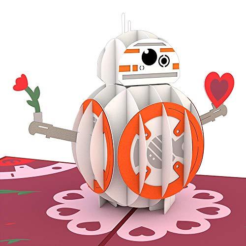 Star Wars BB-8 Mine Pop Up Card, 3D Card, Valentine's Day Card, Greeting Card