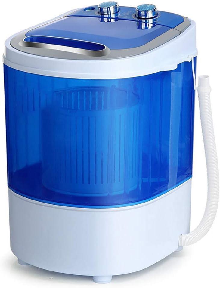 TYUIO ミニ洗濯機、子供の洗濯機ポータブルコンパクトで耐久性に優れたデザイン取り外し可能なドレンバスケット2.5KG洗濯容量トラベルアパート寮(色:ブルー)