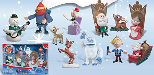 Rudolph The Red Nosed Reindeer Set (Rudolph the Red-Nosed Reindeer Ultimate Figurine Collection Classic Characters)