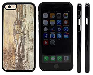 Rikki KnightTM Claude Monet Art Snow at Sunset Argenteuil in the the Snow Design iPhone 6 Case Cover (Black with front bumper protection) for Apple iPhone 6
