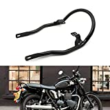 Motoparty Rear Luggage Rack Bracket Passenger Hand Grip Handgrip Grap Bar For Triumph Bonneville T100 2002-2015 Bonneville SE 2008-2015 Bonneville 2001-2015