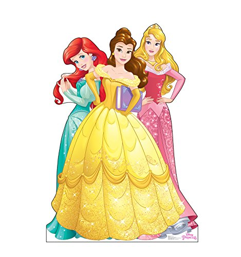 Advanced Graphics Ariel, Belle & Aurora Life Size Cardboard Cutout Standup - Disney Princess Friendship Adventures