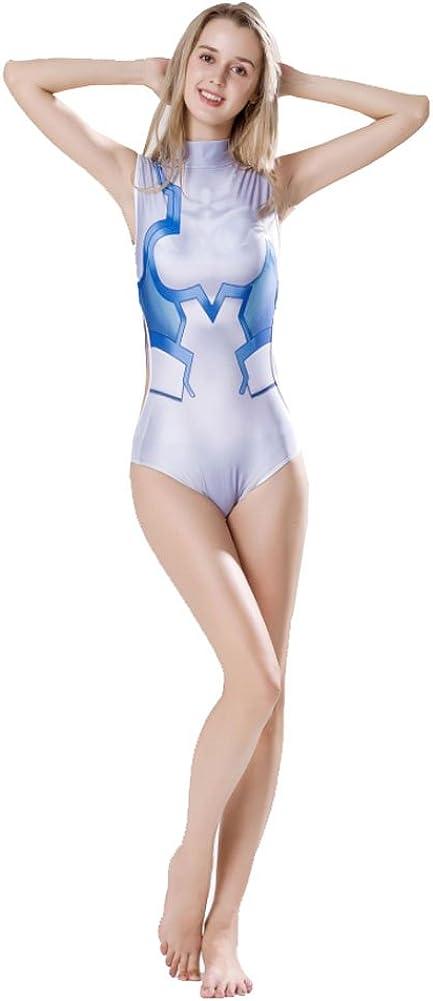 B07D7S34PK Wish Costume Shop Darling in The Franxx Cosplay Swimwear Ichigo Swimsuit Costume (Custom Made, White) 51BRV-bBdOL