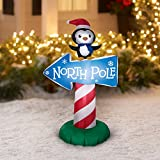 Airblown Inflatable-North Pole Whimsical Sign 3.5ft tall by Gemmy Industries (1)