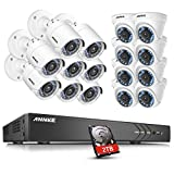 ANNKE CCTV Camera Systems 16CH Full HD 1080P H.264+ 4K Digital Video Recorder with 2TB Hard Drive and (16) 1920TVL 2.0MP Outdoor Fixed CCTV Cameras, Email Alert with Snapshots Review