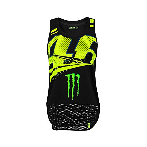 (2018 VR46 Valentino Rossi #46 MotoGP Ladies Womens Tank Top Vest Monster)