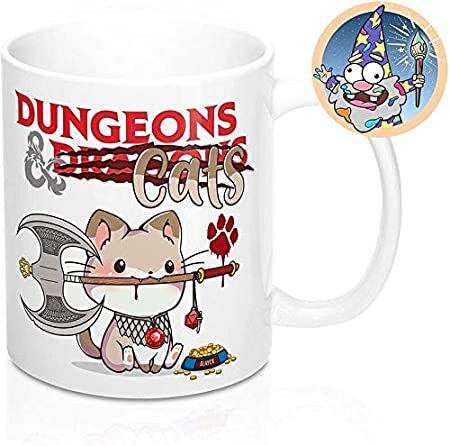 Dungeons and Dragons Dice Secret Cat d20 Sticker