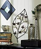 Bouncy Butterfly Candle Wall Sconce Metal Leaf Shape Sculpture