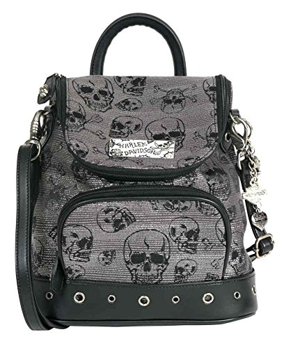 Harley Chrome Skull Designer Backpack Handbags