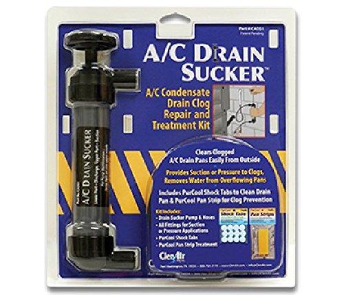 A/C Drain Sucker condensate drain clog repair and treatment kit