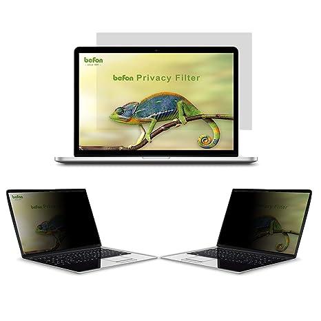 befon Premium - Filtro de privacidad y Protector de Pantalla para Ordenador portátil 345x194mm (15.6