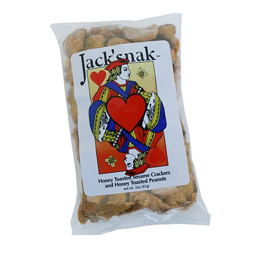 Jack Snack - Sunflower Food and Spice Co, Jack'snak, 3-Ounce Bags (Pack of 24)