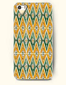 SevenArc Apple iPhone 5 5S Case Moroccan Pattern ( Green and Yellow Diamond Floral Pattern )