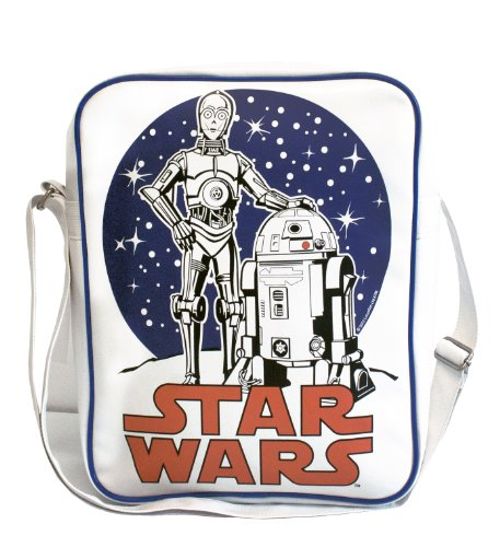 C-3PO R2-D2 bandolera - La bolsa de mensajero del hombre - La guerra de las galaxias - Star Wars - Diseño original con licencia - LOGOSHIRT