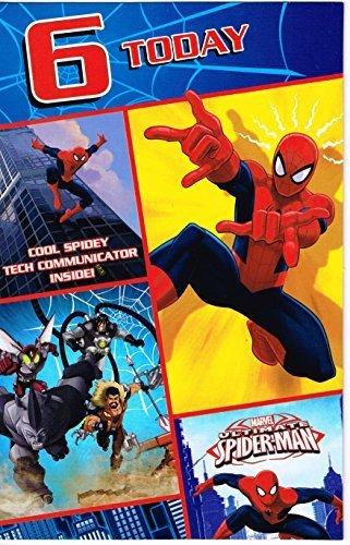 Amazon.com: Marvel Ultimate Spiderman – 6 hoy tarjeta de ...
