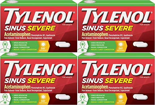 - Sinus Congestion And Pain Severe Caplets Daytime - 24 Caplets