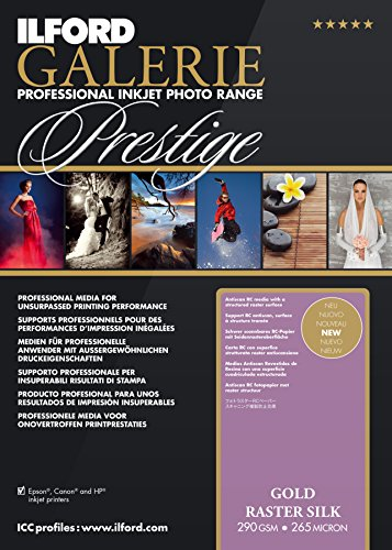 ILFORD 2003174 GALERIE Prestige Gold Raster Silk - 13 x 19 Inches, 50 Sheets by Ilford