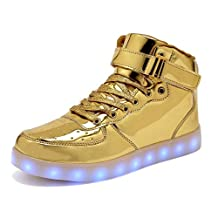 Women Men Dance High Top LED Light Up Shoes Flashing Sport Sneakers