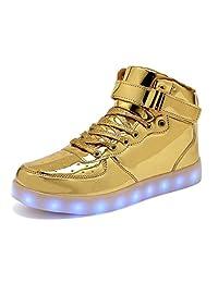 Women Men Dance High Top LED Light Up Shoes Flashing Sport Sneakers