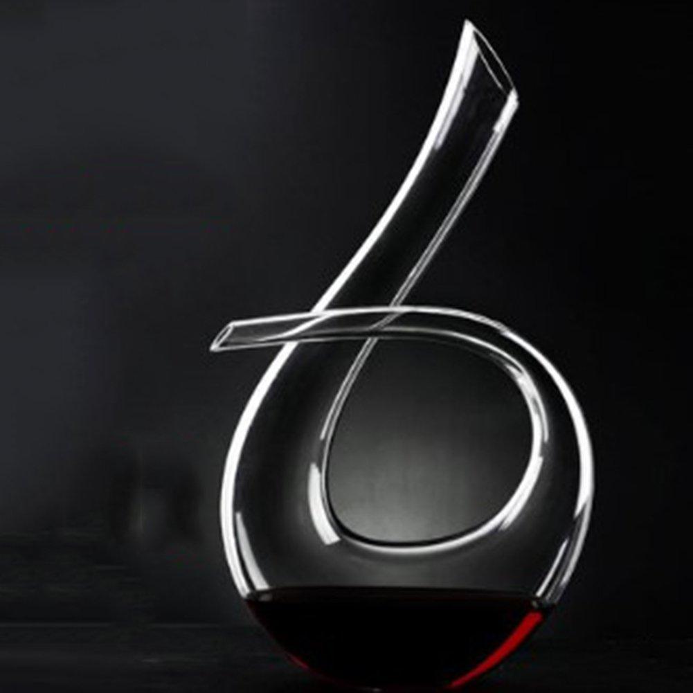 ワインデカンター、 ワインのインフレータ、 赤ワイン瓶、 ワインギフト ワインアクセサリー、 結晶 ガラス、 速い デカンター、 ワイン プーラー、 家庭 ワインセット マニュアル かぼちゃ U形 ベベル,6 B07QXHTRSX