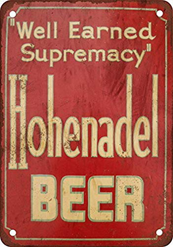TEcell Hohenadel Beer Wall Decor Metal Tin Sign 8X12 Inches