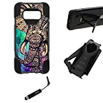 """URAKKI Case, Hybrid 2 Layer Shock Proof Heavy Duty Armor Kickstand Hard Case Compatible with Samsung Galaxy S8 G950… 12 COMPATIBLE WITH: Samsung Galaxy S8 G950 ( 2017 ) / ** NOT FOR ** Galaxy S8 """"Plus"""" , S8 """"Edge"""" G955 (2017) DUAL LAYERED - combination of skin and hard """"Grade A"""" material for a good, balanced protection BUILT IN KICKSTAND - allows for convenient, hands-free landscape or portrait viewing"""